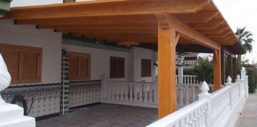 pergola de madera en vitoria tejados vitoria