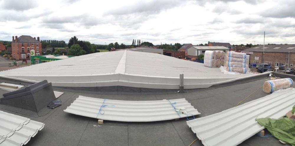 Cubierta colocacion de cubierta nueva para fabrica en vitoria pabellon
