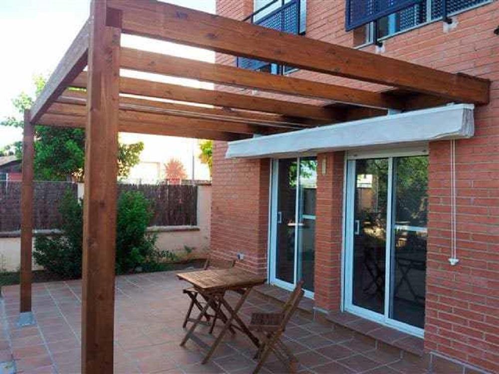 Estructura de madera pérgola de madera cenador de madera porche de madera Tejados Vitoria